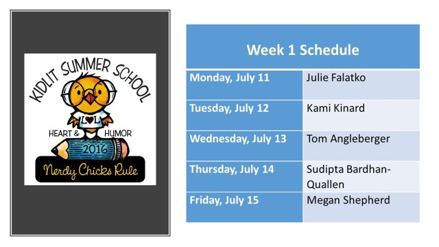 summer school 16 week 1